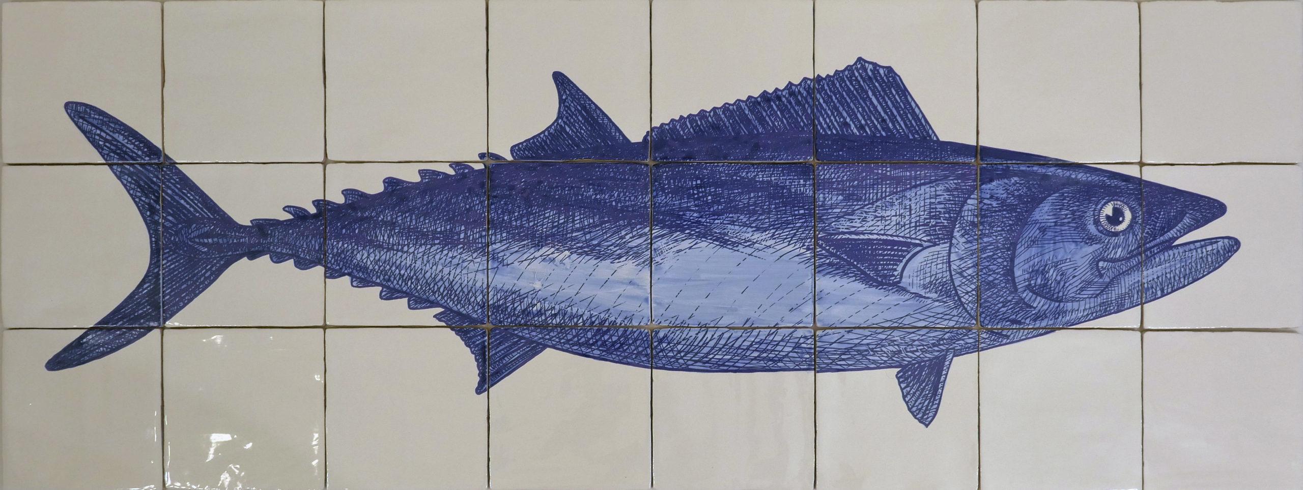kitchen backsplash tile panel with tuna