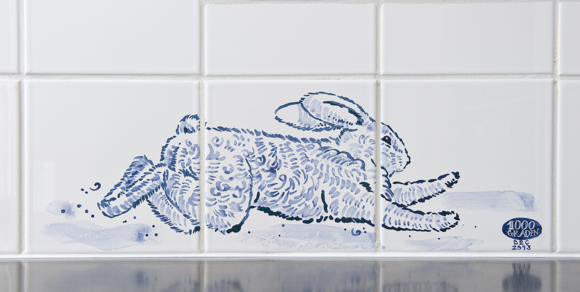 Rabbit tile panel