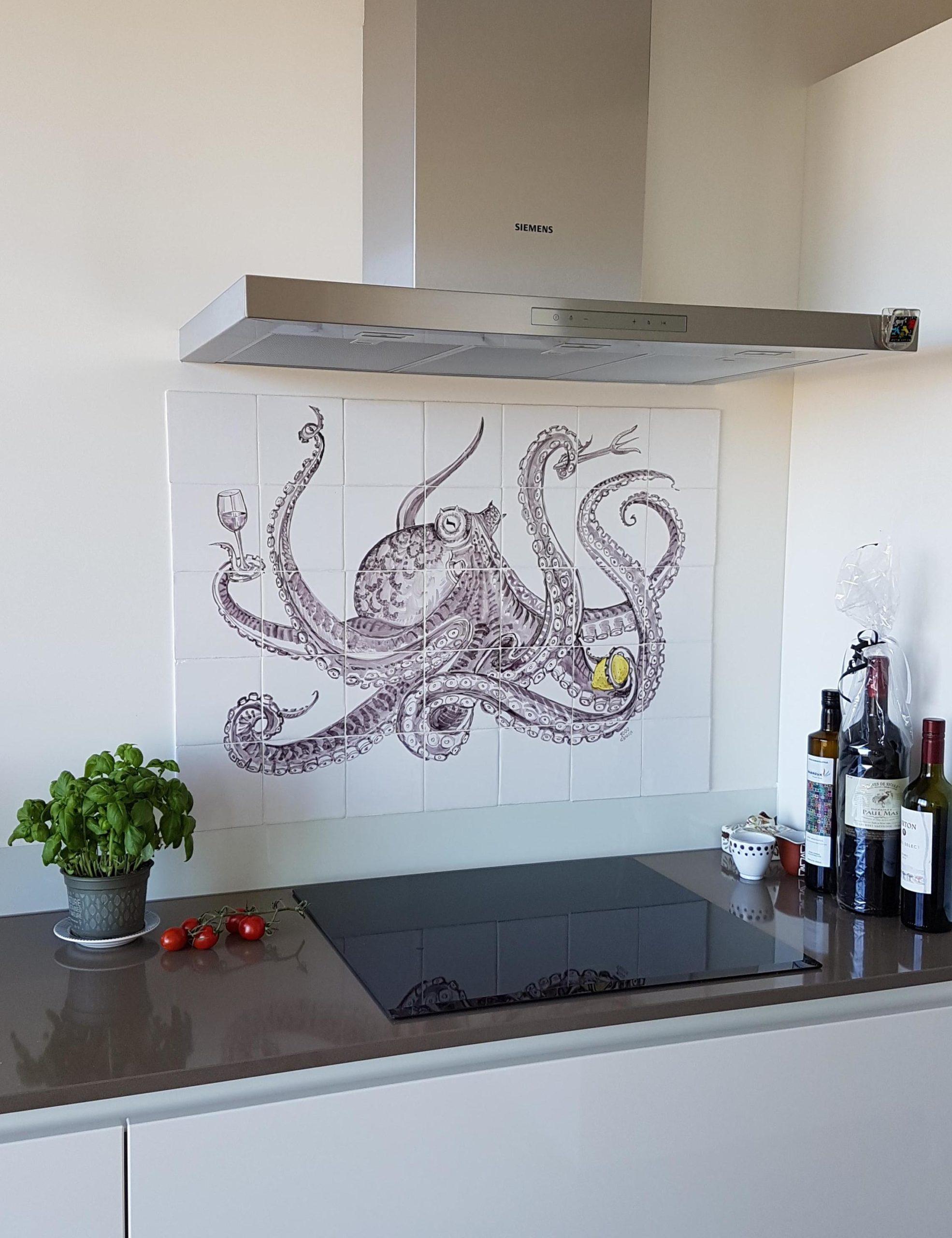 tile panel octopus