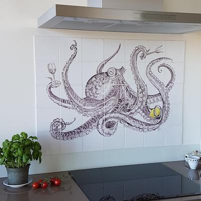 tegeltableau octopus