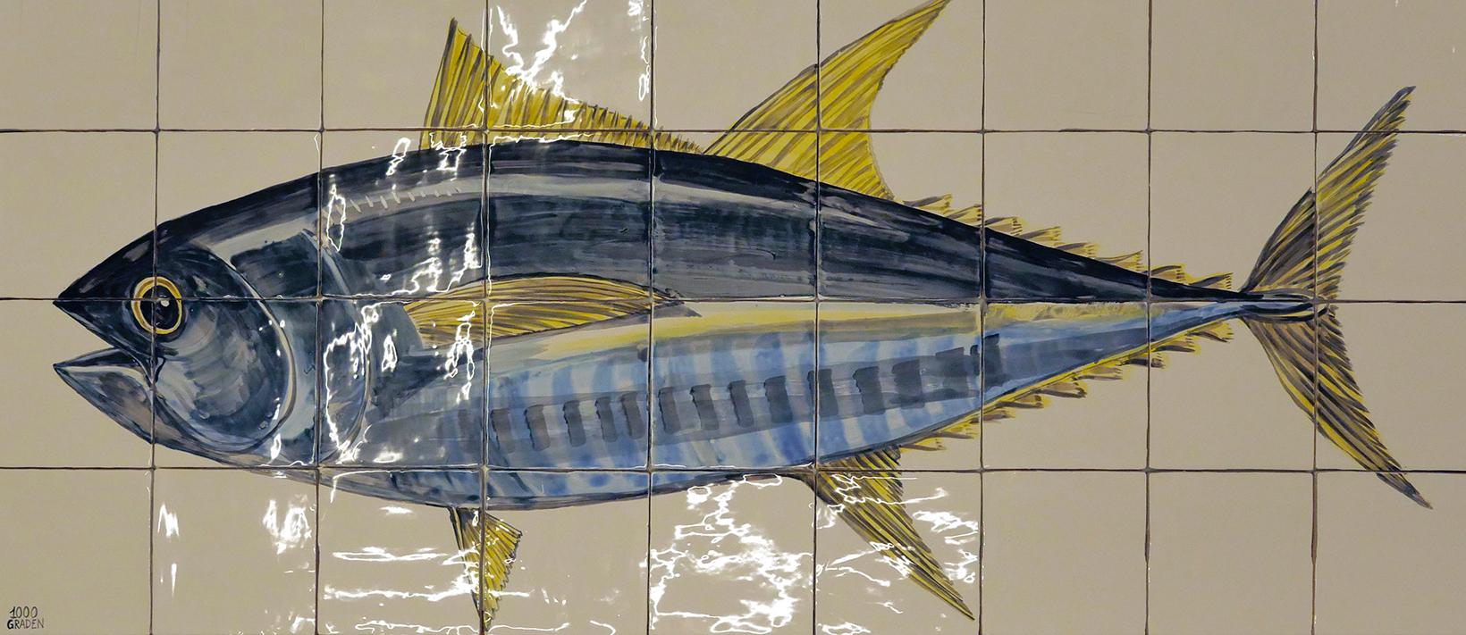Tegeltableau tonijn