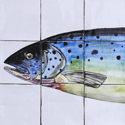 tile panel salmon