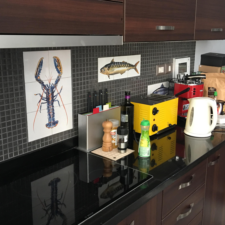 Lobster tile panel