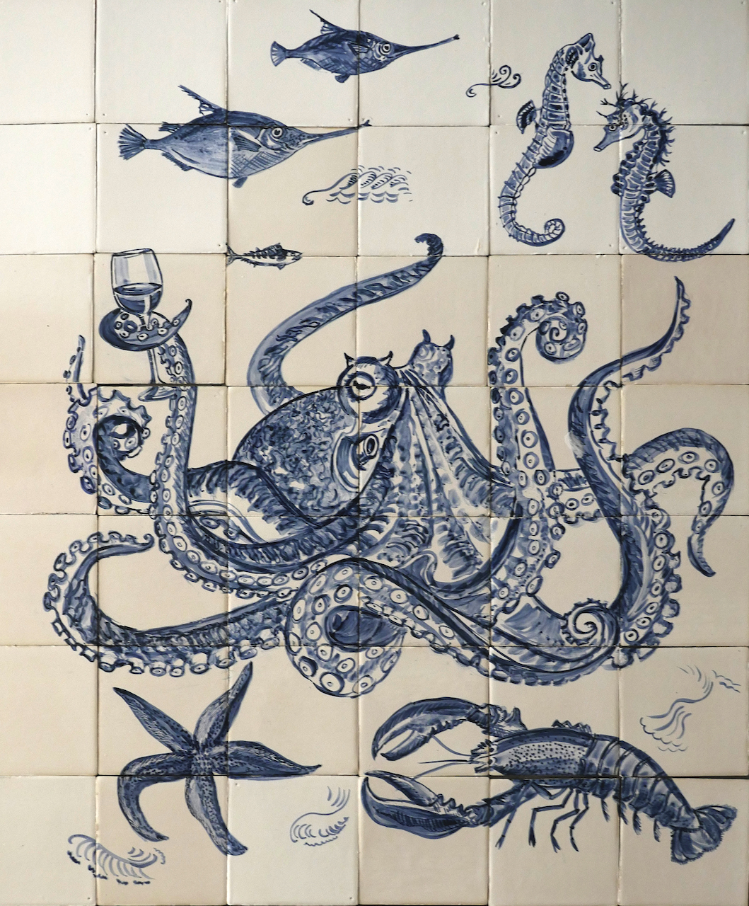 sea world tile panel