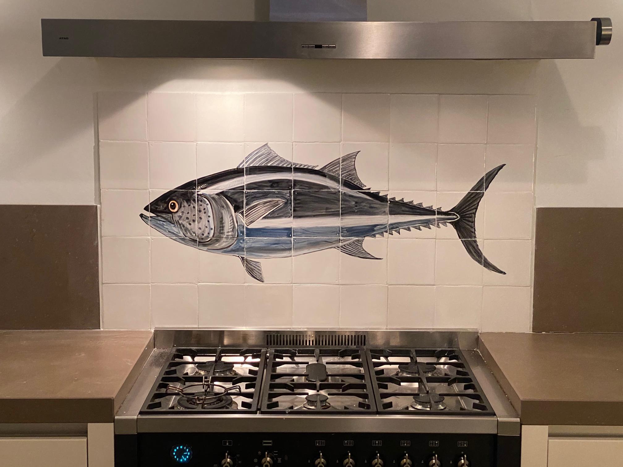 tonijn tegel tableau