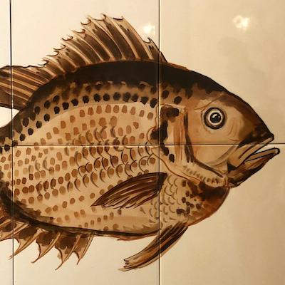 Reddish bass tile panel