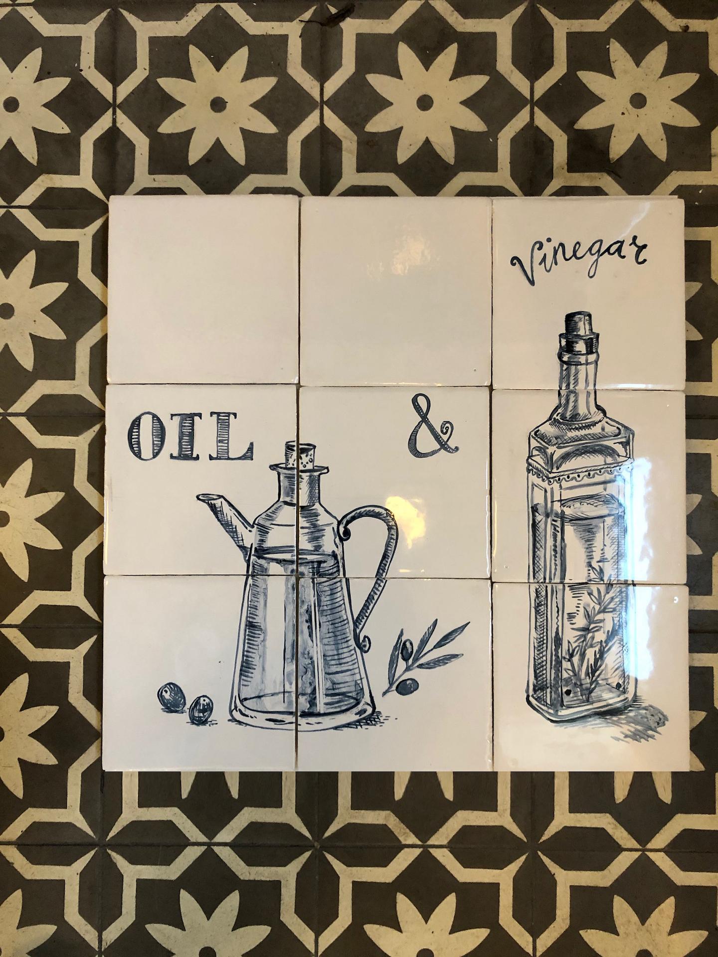Oil and vinegar tile panel