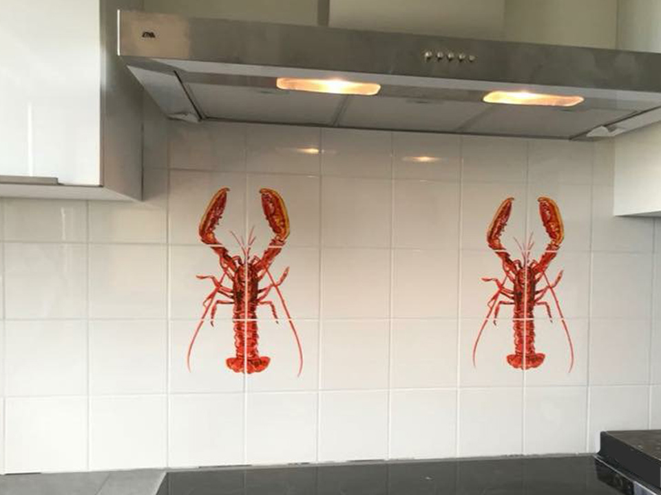 red lobster tile panel