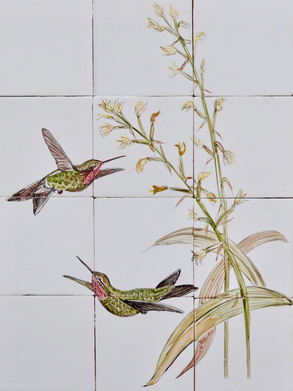 tile panel humming birds