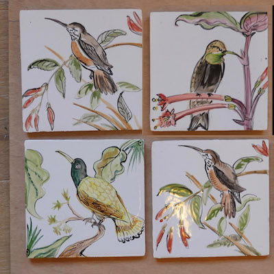 hummingbird tile panel