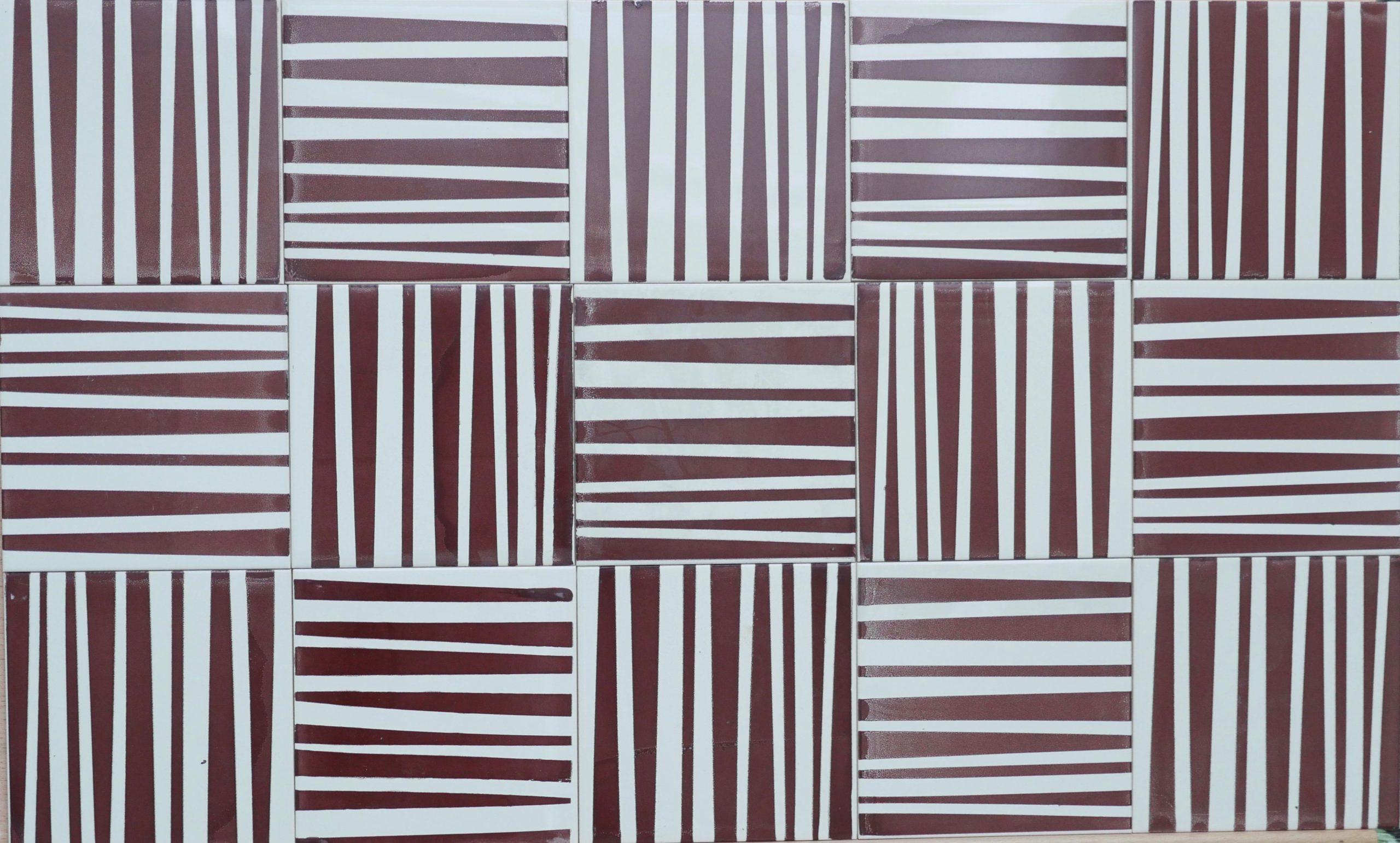 Brown stripes tiles