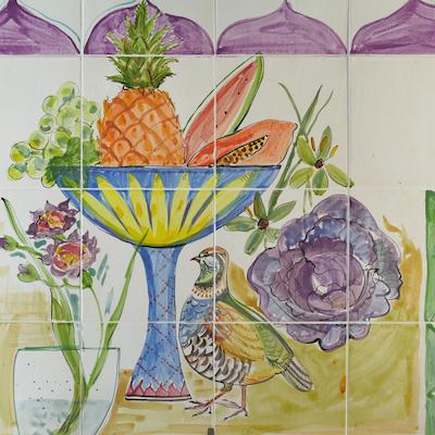 still life tile panel